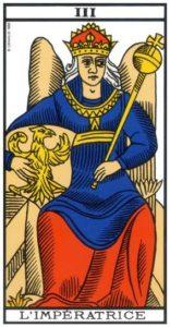 association combinaison tarot l'impératrice arcane 3