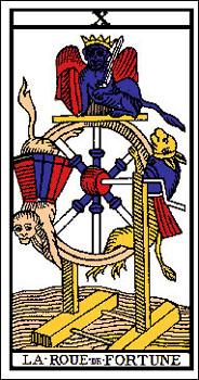 la roue de fortune association combinaison tarot la roue de fortune arcane 10