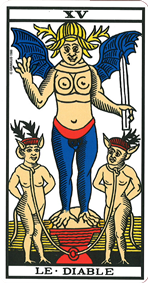 le diable association combinaison tarot le diable arcane 15