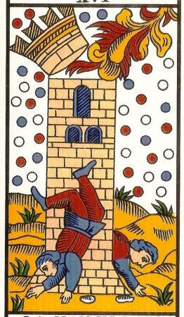 la maison dieu la tour association combinaison tarot la maison dieu arcane 16