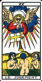 le jugement association combinaison tarot le jugement arcane 20