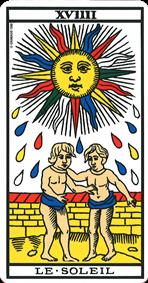 le soleil association combinaison tarot le soleil arcane 19